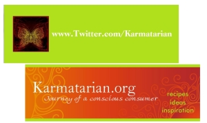Twitter and Blog business card
